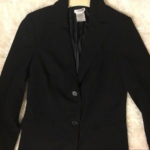 East 5th Black Blazer with Shoulder Pads, Sz 4